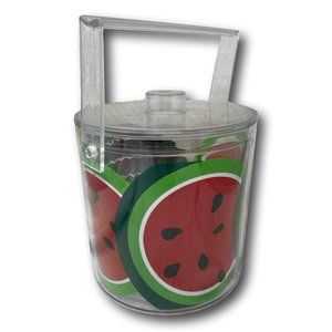 Large Lucite Summer Watermelon Ice Wine Bucket